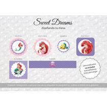 Stickers De La Sirenita Cortados Para Candy Bar O Mesa Dulce