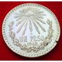 Moneda De Plata 1 Peso Resplandor Año 1940