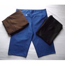 Kit 6 Bermudas Legging Plus Size Cores Lisas Atacado Revenda