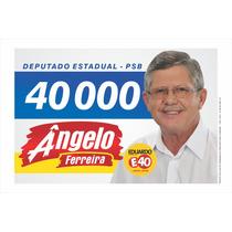 Santinhos Políticos Vetorizados + Logos Políticas +. Brindes