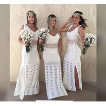 Vestido Tricot / Croche / Revellion Festa /casamento