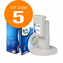 Kit 5 Lnbf Multiponto Parabolica Banda C Para Tv Digital Hd