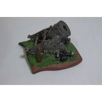 Miniatura Canhão De Guerra Pintado Mão Lindo Adorno Enfeite