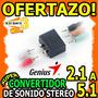 Wow Adaptador Convertidor De Sonido Genius 2.1ch A 5.1ch Dvd