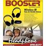 Par Fone Wireless Booster Para Dvd Automotivo Tela Encosto