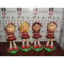 Bonecas Do Flamengo Em Eva 3d 23 Cm - Kit C/ 4 - Futebol