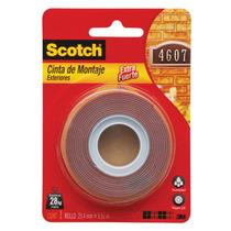 Cinta Adhesiva Montaje Fuerte Exterior Doble Cara Scotch 3m