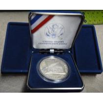 Dólar De Plata Usa Proof 1987 Bicentenario Constitucion