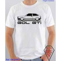 Camiseta Personalizada Com Estampa De Carro Gol Gti