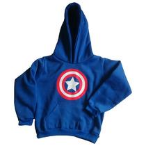 Buzo Con Capota Niños Capitán América