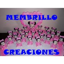 20 Souvenirs Porcelana Fria Minnie Bebe + Central +tarjetas