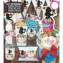 Kit Imprimible Alicia Mesa De Dulces Postre Oferta Barato