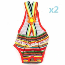 Kit Completo Bolsa 2 Vestido Panal Y Su Colonia Para Mascota