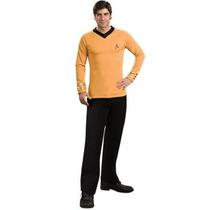Disfraz / Camisa De Star Trek Oro Para Adultos Envio Gratis