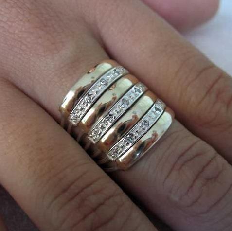 087beb399a60f Anel 7 Elos Da Felicidade Em 2 Cores Ouro Prata Lindíssimo!! - R ...