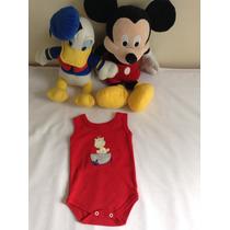 Body De Nenem Infantil Bebê Roupa De Bebê / Regata Vermelha