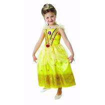Disfraz Princesa Bella Talle Small 3-4 Años Original Disney