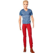 Barbie Fashionistas Ken Doll Jeans Rojo Y Azul Tee