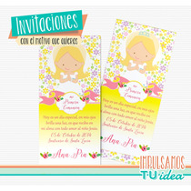 Estampita Comunión - Tarjetita Comunión Nena Para Imprimir
