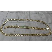 Cadena Y Esclava Extra Gruesas Cartier Oro Laminado 24k