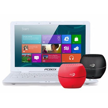Notebook Pcbox Intel Kant 2 Hdmi Wifi Led W8 + Parlante Bt