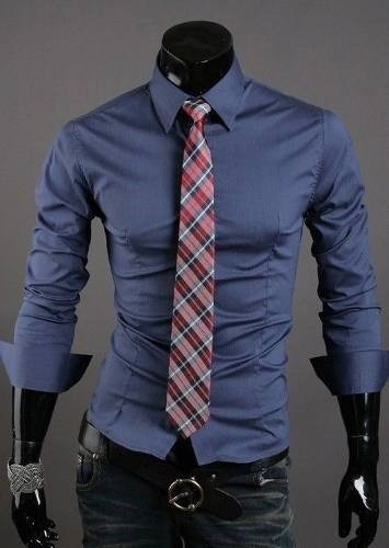 15932a4710227 Pack X 2 Camisas Entalladas Slim Fit Para Hombre De Diseño -   999 ...