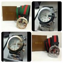 Correas Gucci Cinturones + Reloj Gucci De Regalo Combo