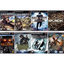 Call Of Duty 3 Para Playstation 2 (kit 8 Jogos Ps2 Guerra