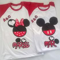 Franelas Mickey Y Minnie Enamorados. Día De Los Enamorados