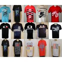 Kit C/ 10 Camisetas Masculinas Várias Marcas