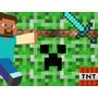 Kit Imprimible Minecraft Diseñá Tarjetas Invitaciones 2x1
