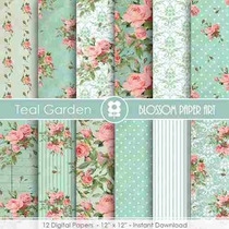 Kit Imprimible Pack Fondos Shabby Chic Clipart Cod 92 00