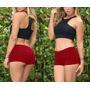 Mini Short Em Viscolycra Ideal Pra Usar C/roupas Vestidos