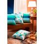 Kit Almofadas Decorativas 6 Pcs 100% Algodão Azul Turquesa