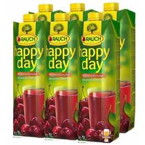Kit 06 Suco Happy Day Cherry - Cereja 1l - Importado Áustria