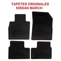 Tapetes Originales Nissan March En Color Negro Envio Gratis!