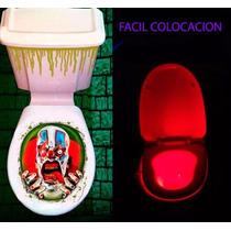 Halloween Disfraz Para Baño Sticker+ Led Colores Sensor Mov