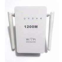 Repetidor E Roteador 1200 Mbps 2 Antenas Amplificador S/ Fio