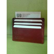 Tarjetero De Bolsillo Para 6 Tarjetas De Crédito - Cuero -