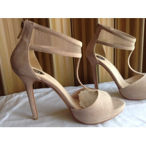Zapatillas Tipo Ante Color Beige Lob Footwear Talla 25.5