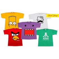 Camisa Infantil Desenhos Animados Camiseta Personalizada