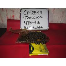 Cadena Traccion Paso 428 Con 116 Eslabones Reforzada