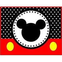 Kit Imprimible Mickey Rojo Y Negro Cumpleaños Fiestas Torta