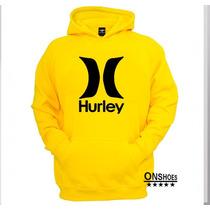 Moletom Hurley Unissex Blusa De Frio Canguru Mod:03