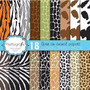 Kit Imprimible Pack Fondos Animal Print 4 Clipart