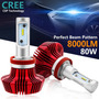 H11 Autoled Headlight Conversion Kit Cool White 8,000lm 80w