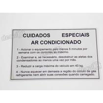 Adesivo Cuidados Especiais Ar Condicionado Gol Quadrado