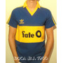 Camiseta De Boca Retro Fateo 2 Modelos Azul Y Amarila Únicas
