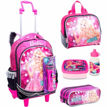 Kit Mochilete Mochila G Barbie Rock Royals - Sestini