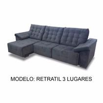 Sofa Retratil 3 Lugares 2.60m - (tecido Suede)